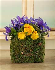Picture of Purple and Yellow Iris Bag!