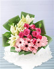 Picture of Lily Gerbera and Rose Bouquet!