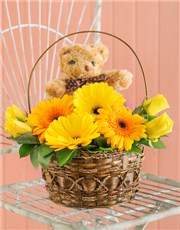 Picture of Yellow Baby Basket!