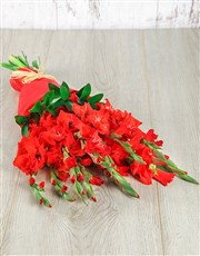 Picture of Red Gladiolus Bouquet!