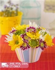 Picture of Chrysanthemum Flower Cupcake!
