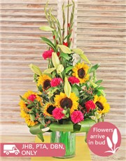 Picture of Sunflowers, Gladiolus and Lilies!