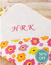 Picture of Personalised Flower Print Picnic Blanket!