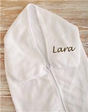 Picture of Personalised Baby Fleece Sleeping Sack!
