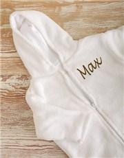 Picture of Personalised Fleece Baby Sleeping Jacket!