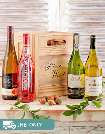Picture of Variety of Wines in a Wooden Crate!