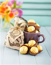 Picture of Hamper of Coffee Truffles and Le Creuset Mug!