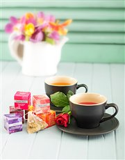 Picture of Le Creuset Teacup Set with Silk Infused Teas!