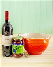 Picture of Le Creuset Mixing bowl   Flame with Wine & Olives!