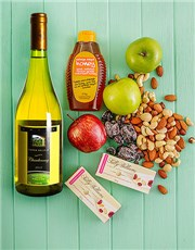 Picture of Rosh Hashanah Snack and Wine Gift!