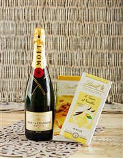 Picture of Moet and Chandon Imperial with Lindt Chocolates!