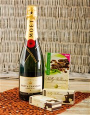 Picture of Moet and Chandon Imperial with Sally Williams Noug!