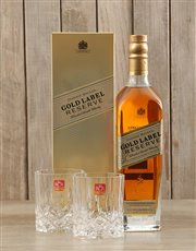 Picture of Johnnie Walker Gold & Crystal Glasses!