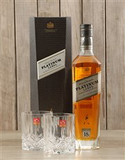 Picture of Johnnie Walker Platinum & Crystal Glasses!