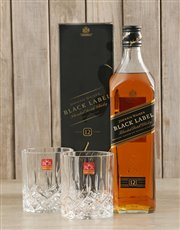 Picture of Black Label & Crystal Glasses!