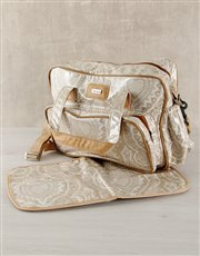 Picture of Thandana Brown Heart Design Nappy Bag!