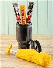 Picture of Yellow Umbrella & Coffee on the Go Gift Set!