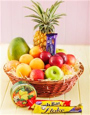 Picture of Fresh Fruit and Sweet Treats Basket!