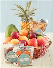 Picture of Fresh and Dried Fruit in Woven Basket!