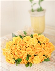 Picture of Yellow Roses in Cellophane!