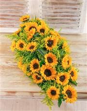 Picture of Sunflower Funeral Coffin Display!