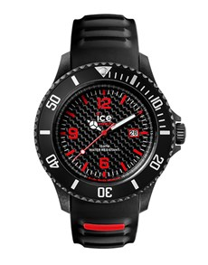 watches: Ice Carbon Black  White Big Watch!