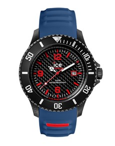 watches: Ice Carbon Black  Blue Big Watch!