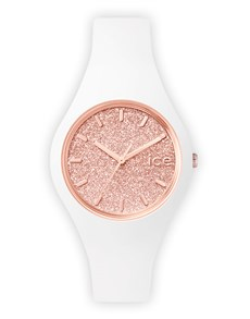 watches: Ice Glitter White Rose Gold Small Watch !