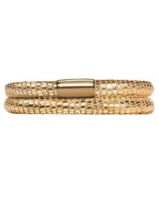 jewellery: Endless Jlo Double Golden Reptile Leather Bracelet!