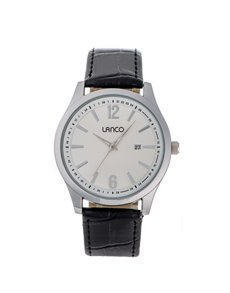 jewellery: Lanco Gents Round White Dial and Silver Watch!