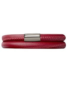 jewellery: Ruby Endless Double Leather Bracelet 38cm!