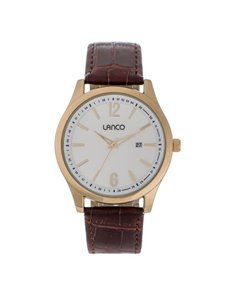 jewellery: Lanco Gents Gold Tone Dial Watch!