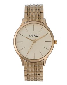 watches: Lanco Gents Gold Plated Bracelet Strap Watch!