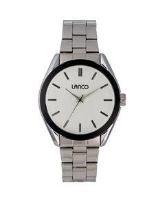 jewellery: Lanco Gents Black Plated Bezel Watch!