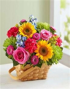 flowers: Sunny Garden Basket!