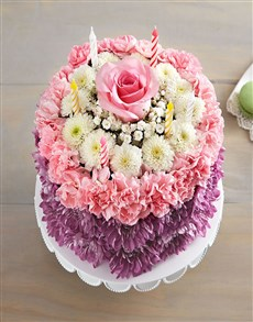 flowers: Bithday Whises Flower Cake Pastel!