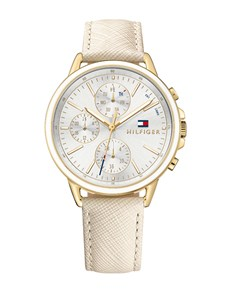 watches: Carly in Gold by Tommy Hilfiger!