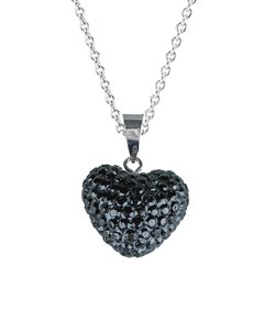 jewellery: 9KT White Gold Open Filigree Heart Necklace!