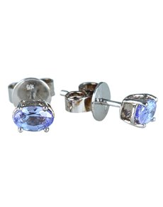 jewellery: 9KT White Gold Tanzanite Studs 0.87ct!