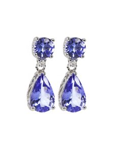 jewellery: Pear Dropped 2.25ct Tanzanite Earrings!