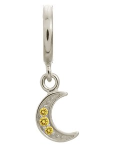 jewellery: Endless Citrine Moon Shine Drop Silver Charm!