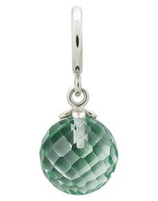jewellery: Endless Green Amethyst Love Drop Silver Charm!