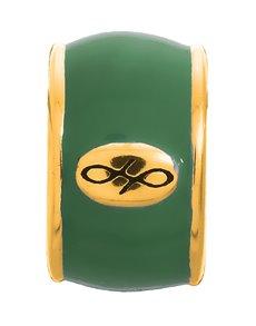 jewellery: Endless Jewellery Green Endless Enamel Gold Charm !