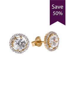 gifts: 9ct Yellow Gold Cubic Zirconia Studs!