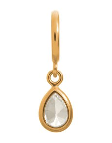 jewellery: Endless Jewellery White Drop Gold Charm !