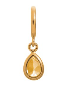 jewellery: Endless Jewellery Citrine Drop Gold Charm !