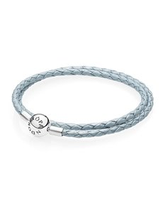 jewellery: Pandora Light Blue Leather Bracelet!