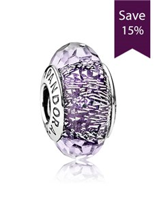 jewellery: Pandora Abstract Silver Faceted Charm!