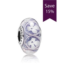 jewellery: Pandora Flower Silver charm 791667!