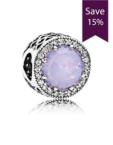 jewellery: Pandora Abstract Silver Opalescent Pink Charm!